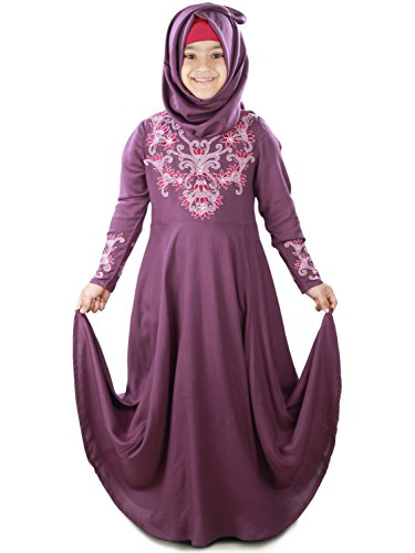 MyBatua Bahijah Occasion Wear Girls Eid Abaya AY-404-K (L)