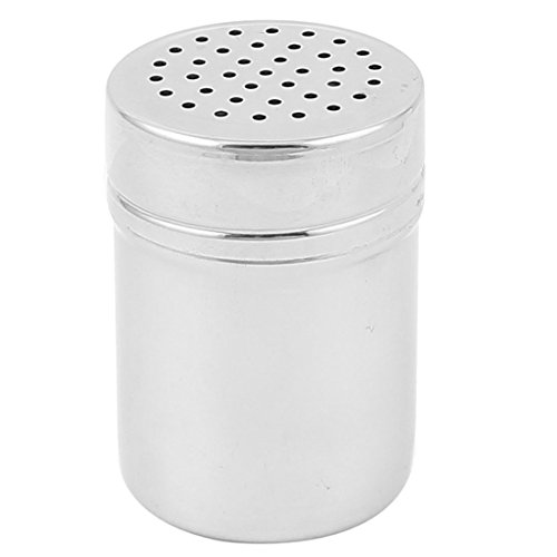 sourcingmap Küche Edelstahl Dredgen Pfeffer Salz Würzen Zucker Shaker Set 2