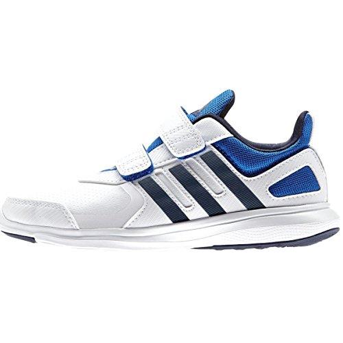 adidas , Chaussures d'athlétisme pour garçon noir Blanc (blanc Footwear / bleu marine collégial / bleu)