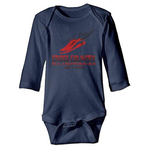 VTXWL Unisex Infant Bodysuits Cross Country Running Girls Babysuit Long Sleeve Jumpsuit Sunsuit Outfit Navy