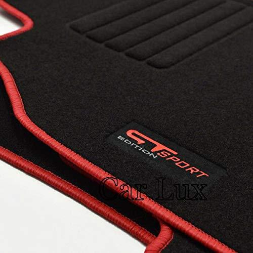 Car Lux AR03375 Tapis de Voiture sur Mesure en Velours pour Megane 3 III