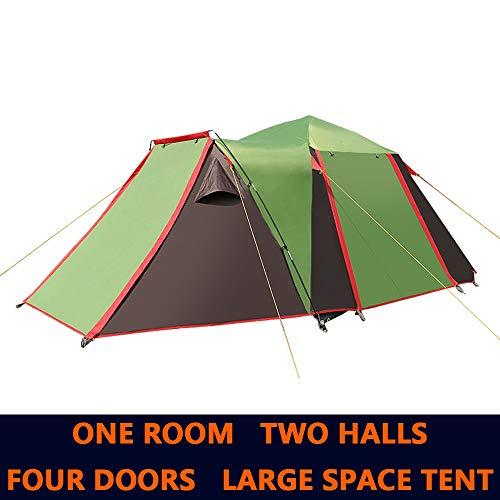 COKECO Zelt für 4 bis 5 Männer Automatische Öffnung Zelt Ultra Large Wasserdichtes Kuppelzelt UV-geschützte Tunnel Zelt Camping Zelt Familienzelte 430 * 220 * 165CM