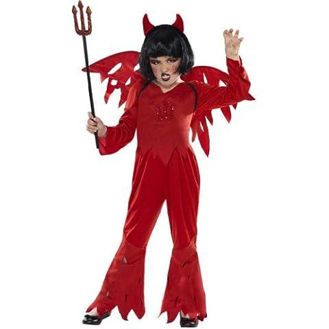 Smiffy's - Disfraz de diablesa para niña, talla M (7 - 9 años) (32400M)