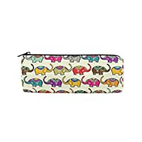 Ahomy Pencil Case, India Elephants Pen Bag Students Stationery Storage Pouch, Makeup Pouch Wallet for Women