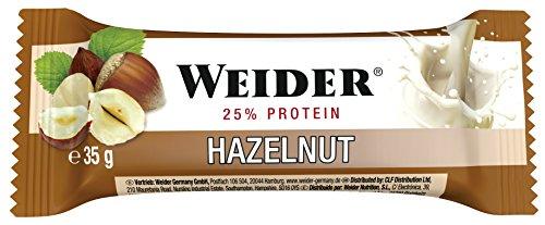 Weider Barrita de Proteína sabor Avellana. Óptima mezcla de hidra