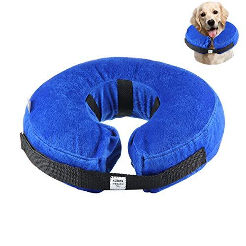 Collar Inflable de Perros Gato, KOBWA Collar de Mascota para Perros Medianos...
