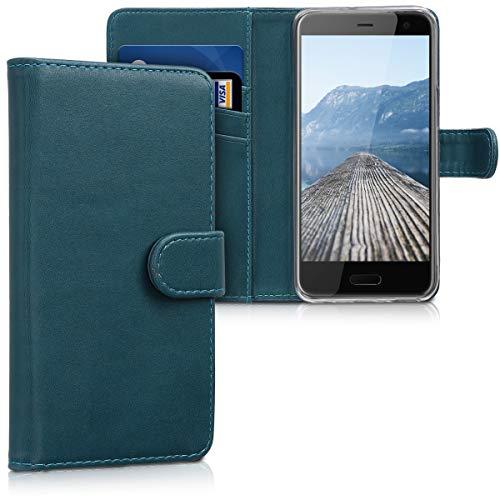 kwmobile HTC U11 Life Hülle - Kunstleder Wallet Case für HTC U11 Life mit Kartenfächern und Stand