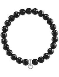 Thomas Sabo Damen-Armband Charm Club 925 Sterling Silber Obsidian Schwarz e0753e394b