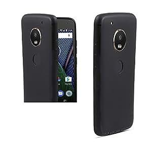 Sajni Creations Ultra Slim Candy Color Soft Silicon Phone Back Case Cover For Motorola Moto G5 Plus - (BLACK)