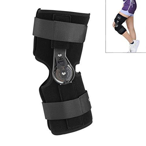Knie Schiene Brace Einstellbare Knie Gemeinsame Unterstützung Orthese Medizinische Klapp Unterstützung Patella Bruch Verletzungen Fix Stabilisator Pads,L