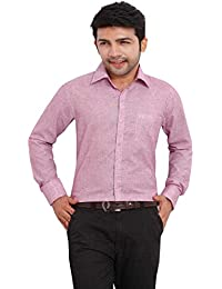 Shirt Rajvila Solid Color Linen Formal Mens Wear Shirt