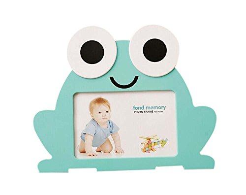 6 Zoll süße Frosch Fotorahmen Tabletop Bild Display für Familie, Kinder und Schlafzimmer - grün
