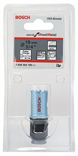 Bosch 2608584780 Scie-trépan pour tôle, Gris, 19 mm, 3/4