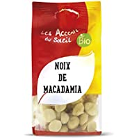 Nueces de macadamia orgánica (descascarillada / pelada), Macadamia crudo, sin sal y sin tostar - sin gluten | 125g | Les Accents du Soleil