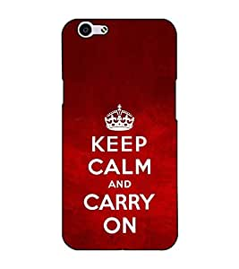 Fuson Designer Back Case Cover for Oppo F1s (Keep calm and carry on)