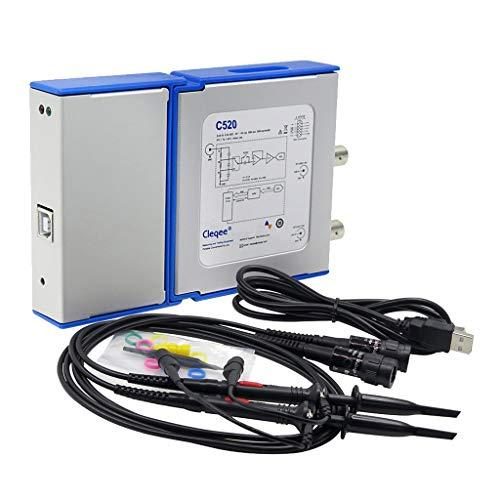 perfk C520 USB-Oszilloskop, 20 MHz, 2 Kanäle, Tastkopf -