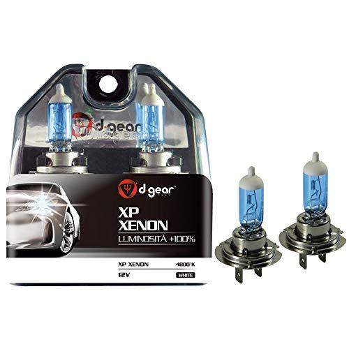 D-GEAR 1193310 Lampadine XP H7 55W +100%, Bianco, 2 Pezzi