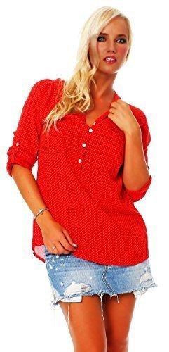 ZARMEXX feine Viskosebluse Hemdbluse langarm Fischerhemd leichte Sommerbluse Tunika Longshirt
