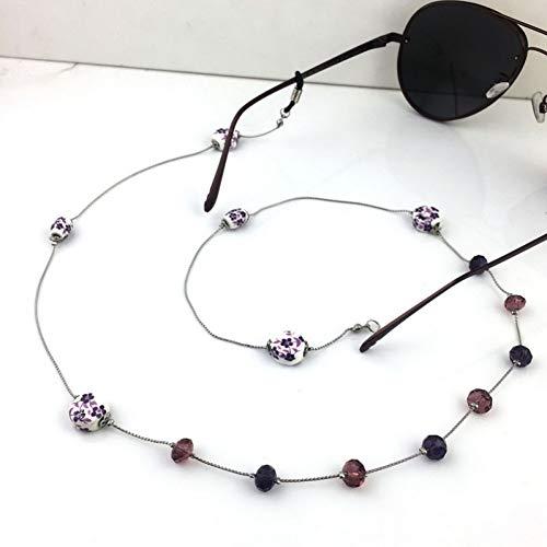 LIUYAWEI Metall Lesebrille Kette für Frauen Mode Perlen Sonnenbrillen Cords Brillen Lanyard Halten Riemen Eyewear Zubehör