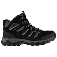 Karrimor Mens Mount Mid Walking Boots Shoes Breathable Lace Up Hiking Trekking Black 8.5