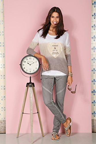 Damen Shirt mit modischem Farbverlauf by Laura Kent taupe/beige/ecru