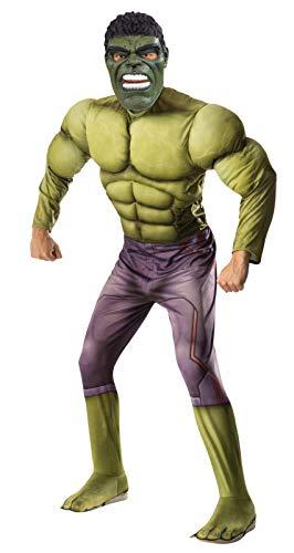 Marvel - Disfraz de Hulk para adulto, Talla única (Rubie's 820686)