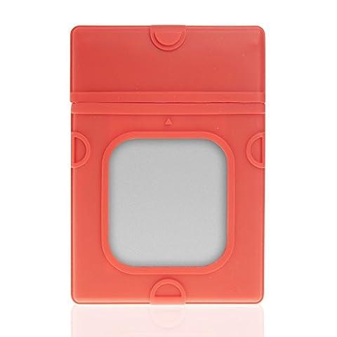 Poppstar 1004982 2,5 Zoll HDD Festplatten Schutzhülle Silikon rot