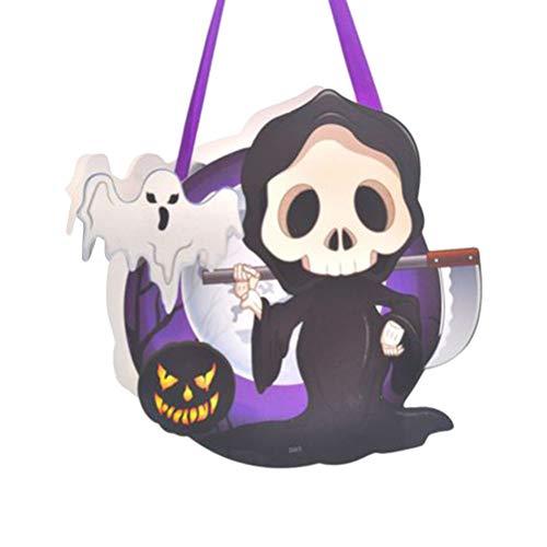 Amosfun Halloween-Bonbontüte Papiertüte Süßes oder Saures-Tüten mit Schleifengriff Halloween-Partyartikel (zufällige Farbe) (Tod) (Leckereien Tüte Halloween Für)