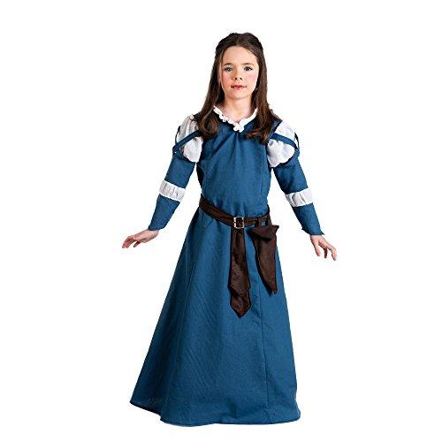 (Elbenwald Kostüm Mittelalter Locandiera–Kostüm Mädchen–Blau–11/13Jahre)