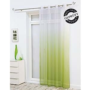 senschal dekoschal gardine vorhang schal leichter farbverlauf 8 silberfarbene. Black Bedroom Furniture Sets. Home Design Ideas