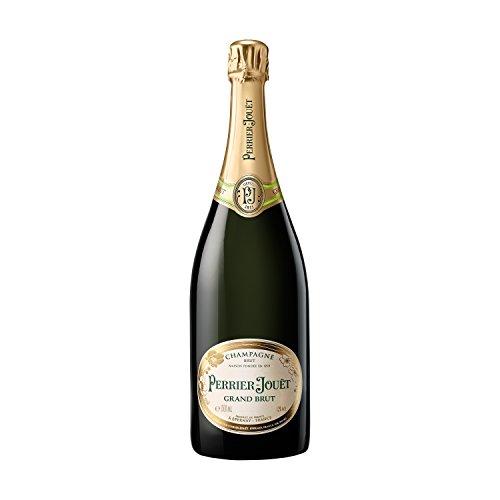 Champagne Perrier-Jouët Grand Brut – Blumig-frischer und trockener Premium-Champagner aus dem Hause Perrier-Jouët – 1 x 1,5 L