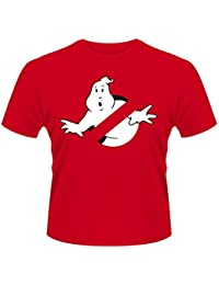 Plastic Head Men's Ghostbusters Logo Banded Collar Short Sleeve T-Shirt