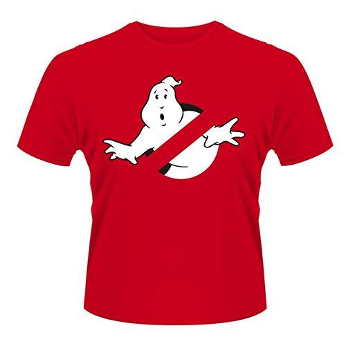 Plastichead Herren T-Shirt Ghostbusters Logo Red Rot - Rot