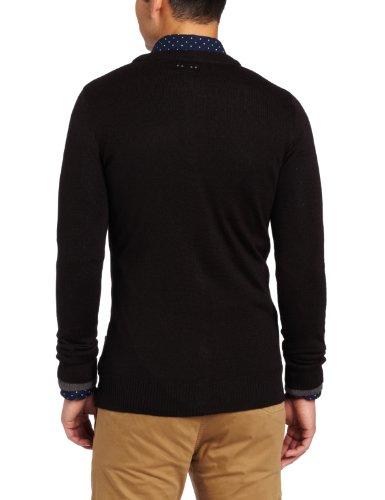 J.C. Rags - Gilet Homme - Knitted Cardigan 3211 Noir (Black)