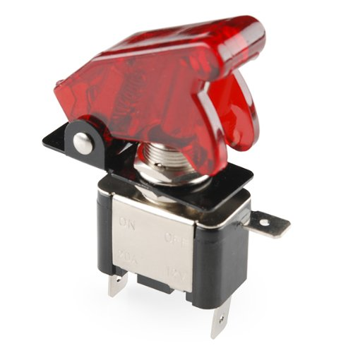 Toggle Switch and Cover - Illuminated (Red) - Toggle Cover