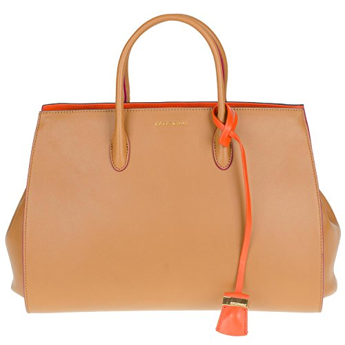 Coccinelle Lou Smooth Borsa Pelle Vitello/Pelle Vitello 18-03 Damentasche aus Leder cuoio aragosta (Vitello-leder Tote-tasche)