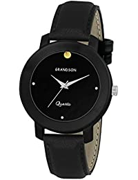 Grandson Black Casual Analog Watch For Boys And Men