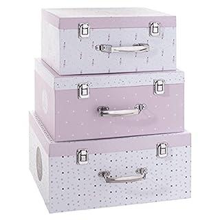 Decoratie Lot de 3 Malles de Rangement My Little Box Rose