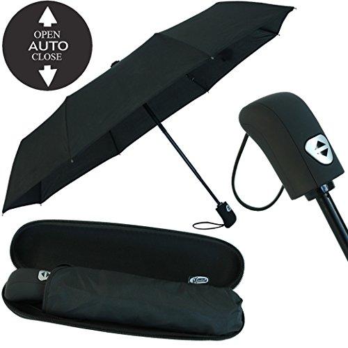 Regenschirm schwarz mit Etui - 5