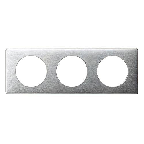 Legrand Celiane LEG99867 Plaque 3 postes Aluminium