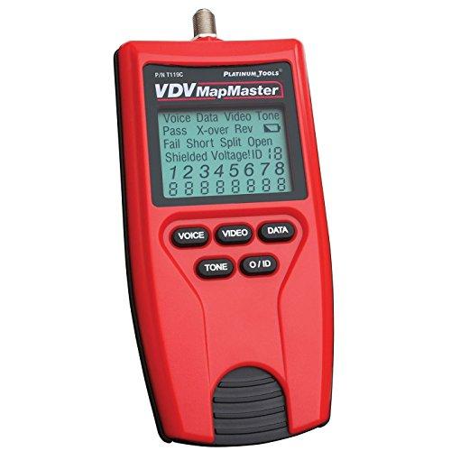 Platinum Tools t119C VDV Clamshell Karte Master Tester -
