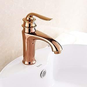 YC Kupfer die volle Becken, Wasserhähne mit heißem und kaltem Continental Gold Sanitärräume