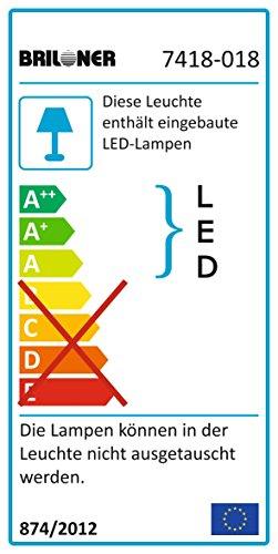 Briloner Leuchten LED Tischlampe, Tischleuchte, Nachttischlampe, LED Nachttischleuchte, Wohnzimmer-Tischlampe, Leselampe Bett, Nachttischlampe Kinderzimmer, LED Tischleuchte, Nachttischlampe Kinder, Nachttischlampe Modern, mit klarem Kristallbehang