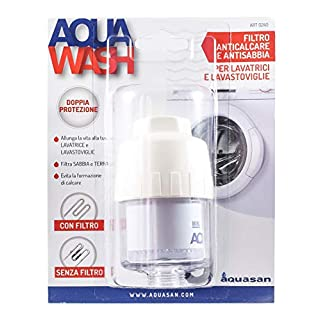 Aquasan 0240 Filter für Waschmaschine, Kalk- und Entkalkungsfrei, transparent