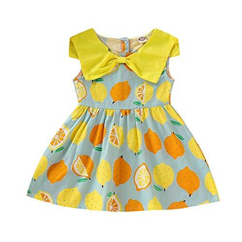 Baby Kleidung Mädchen,Kleid Sommer Damen Kurz 2019 Pwtchenty Ärmelloses Blumendruck Prinzessin Dress Partykleid Outfit Kleidung