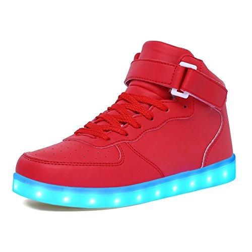 Lekuni scarpe led 7 colore usb carica led lampeggiante luminosi sneaker scarpe sportive -led_gb_hong34