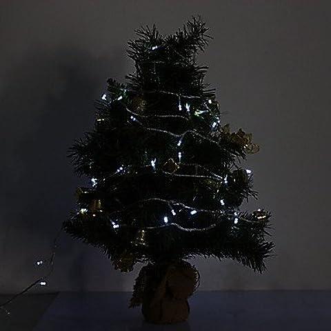 Ailimi- 10M 6W 100-420LM LED Light Strip LED bianco Luce per Decorazioni di Natale con 8 modalità di visualizzazione (220V)
