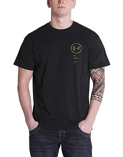 offiziell Twenty One Pilots T Shirt Trench Bandito Circle Band Logo Herren
