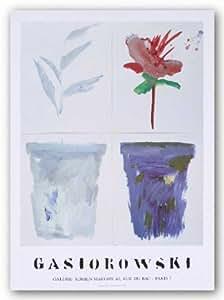 Pots De Fleurs #55/56 de Gerald Gasiorowski Tirages d'Art Poster