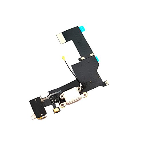 Iphone-modell (GiXa Technology iPhone Ladebuchse Dock Connector Antenne Audio Jack Flex Kabel Mikrofon für Diverse iPhone Modelle (iPhone SE, Weiss))